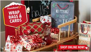 Poundland luxury £1 gift wrap now 25p instore @ poundland