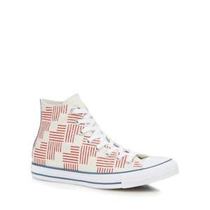Converse 'Off white' embroided High tops adults size 7 & 10 now £18 instore / online at Debenhams (+ £2 C+C online orders)