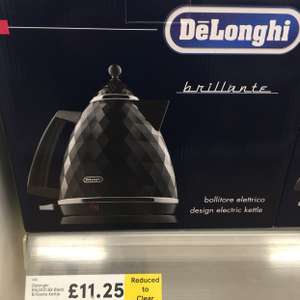 Delongi brillante kettle £11.25 instore @ Tesco Extra Seacroft, Leeds