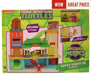 Teenage Mutant Ninja Turtles Half-Shell Hero Sewer HQ Set better than half price @ 15.99 in Argos! Still 34.96 in toys r us