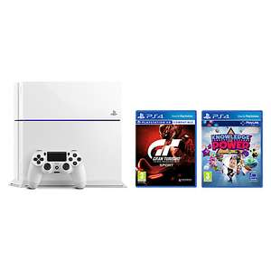 Sony PlayStation 4 Pro Console, 1TB, with DualShock 4 Controller, Glacier White, Gran Turismo Sport and Knowledge is Power or Hidden Agenda £298.95 @ John Lewis