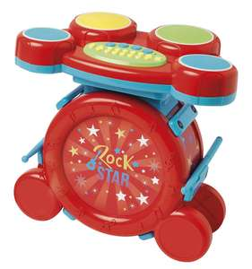 Carousel Red Rock Star Drum Set. Was £26. Now £13 C+C @ Tesco Direct.