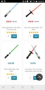 Disney Lightsabers star wars £18.74 instore @ Disney Store