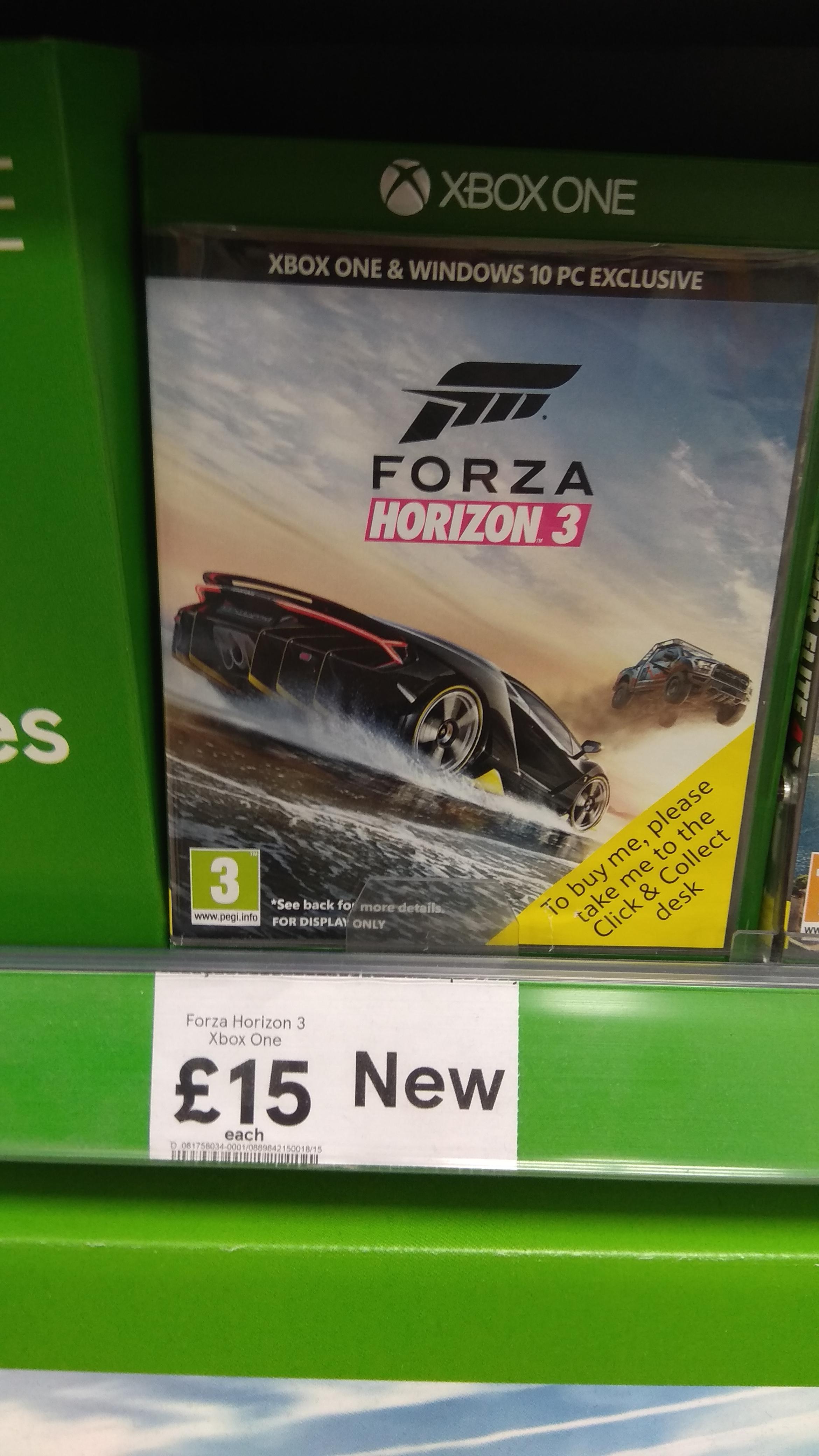 Forza Horizon 3 Xbox One instore at Tesco £15