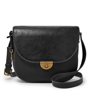 Fossil Emi Black Saddle Bag - RRP £169 - now £67.20 (with code) @ Fossil