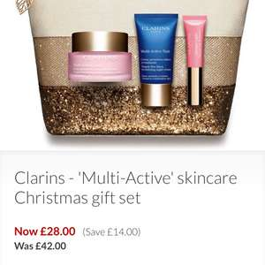 Clarins Multi Active Skincare Christmas Set £28 at Debenhams