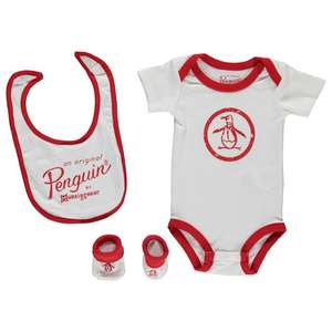 Original Penguin 085 3 Piece Set Unisex Baby - £1.25 @ Sports Direct (plus £4.99 P&P)