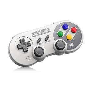 8Bitdo SF30 Pro Retro/SNES Style Bluetooth Controller for 8Bitdo SF30 Pro Wireless Bluetooth Controller with Classic Joystick Gamepad for Windows, MacOS, Android and Switch -  **Now £26.84** at Gamiss