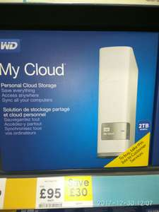 WD My Cloud 2tb - £95 @ Tesco (Instore - Plymouth)