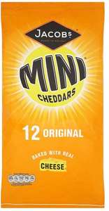 Jacobs Mini Cheddars or Variety Snacks (12 x 25g) Half Price was £2.75 now £1.37 @ Tesco