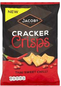 Jacob's Cracker Crisps Sea Salt & Balsamic Vinegar Jacob's Cracker Crisps Sea Salt & Balsamic Vinegar (150g) (All varieties available but may vary from store to store) ONLY £1.00​ @ Asda