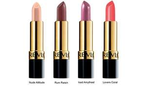 Four-Pack of Revlon Super Lustrous Lipsticks at Groupon for £9.98 delivered