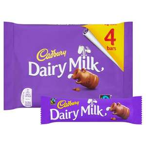 Cadbury Dairy Milk 4 x 36g bars - Half Price - 75p per pack (18.75p per bar) @ Ocado