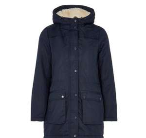 Maine New England - Navy faux fur lined coat free click and collect at Debenhams for £37.50 ladies