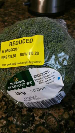 Morrisons Stanground Peterborough offer Broccoli for £ 0.20