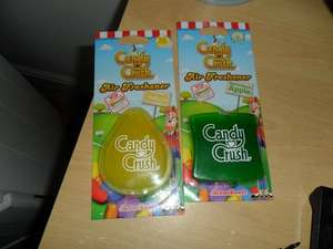 Candy Crush air freshener's instore Tesco Hamilton Estate Leic for 25p