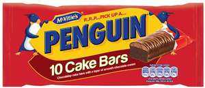 McVities Penguin Cake Bars 10 per pack ONLY £1 (10p each) @ Morrisons and Iceland
