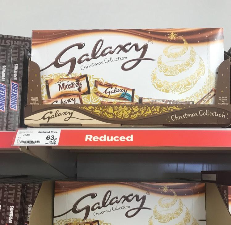 Galaxy Christmas Collection selection boxes reduced to £0.63 at Asda