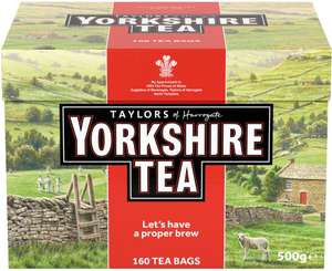Taylors of Harrogate Yorkshire Tea Bags 160 (pack) was £5.39 now £3.00 (Rollback Deal) @ Asda