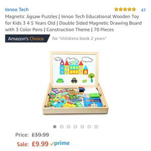 Magnetic Jigsaw Puzzles | Innoo Tech Sold by InnooCare and Fulfilled by Amazon for £9.99 Prime (£13.98 non Prime)