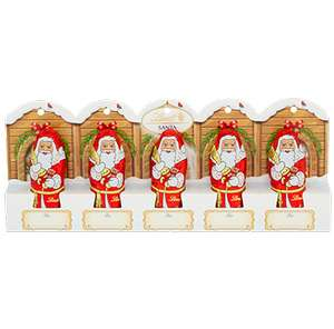 Lindt chocolate Santa pack of five, 10p in Waitrose