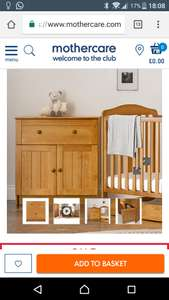 Mothercare Darlington 1 Drawer Dresser - Antique £50 from £210 @ Mothercare