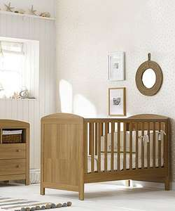 Mothercare Padstow Cot Bed- Oak Effect. £70 + delivery @ Mothercare