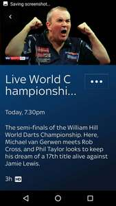 Darts Semi Finals Free for sky customers, no need to have sky sports to view