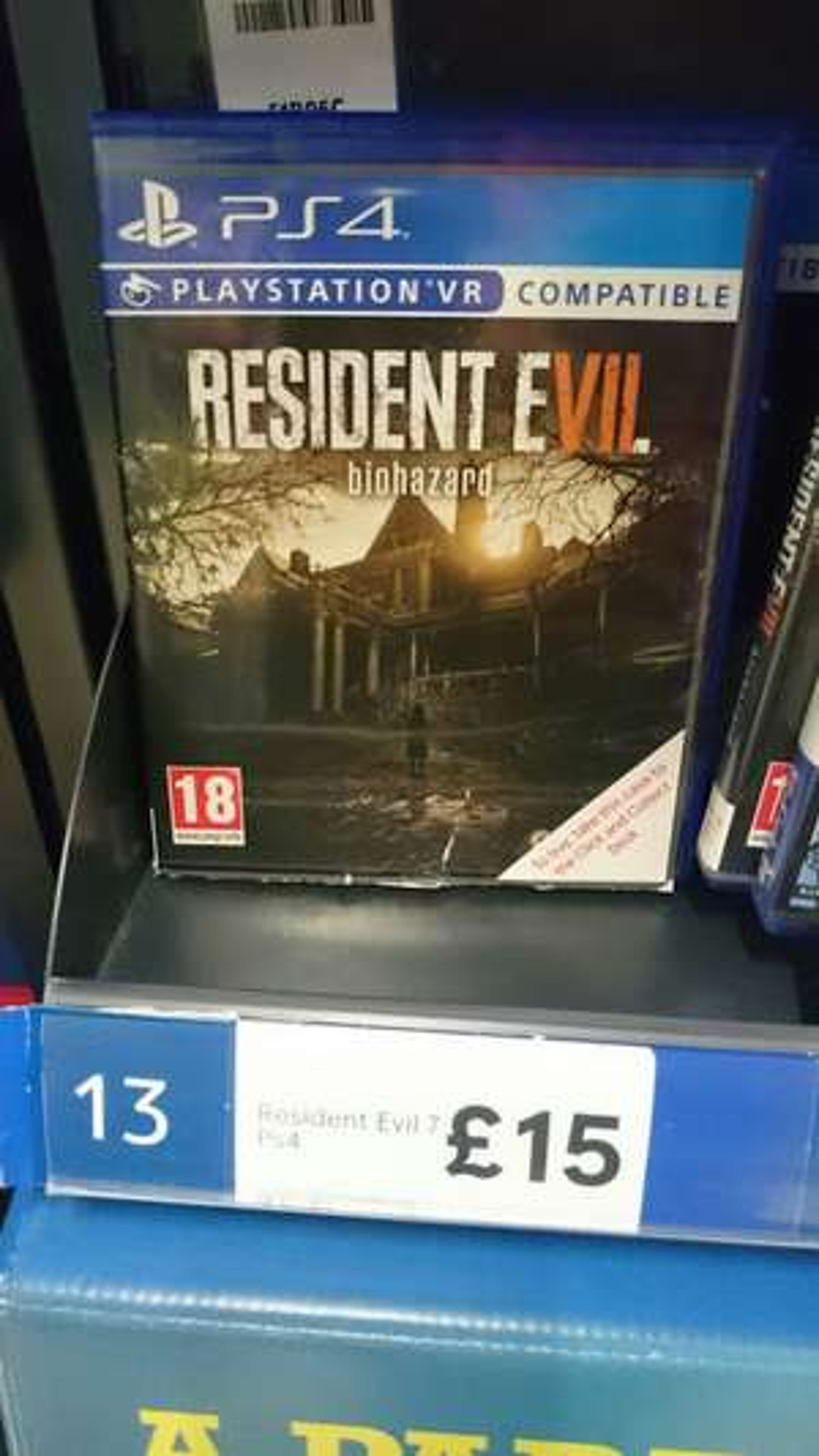 Resident Evil 7 PS4 £15 instore @ Tesco