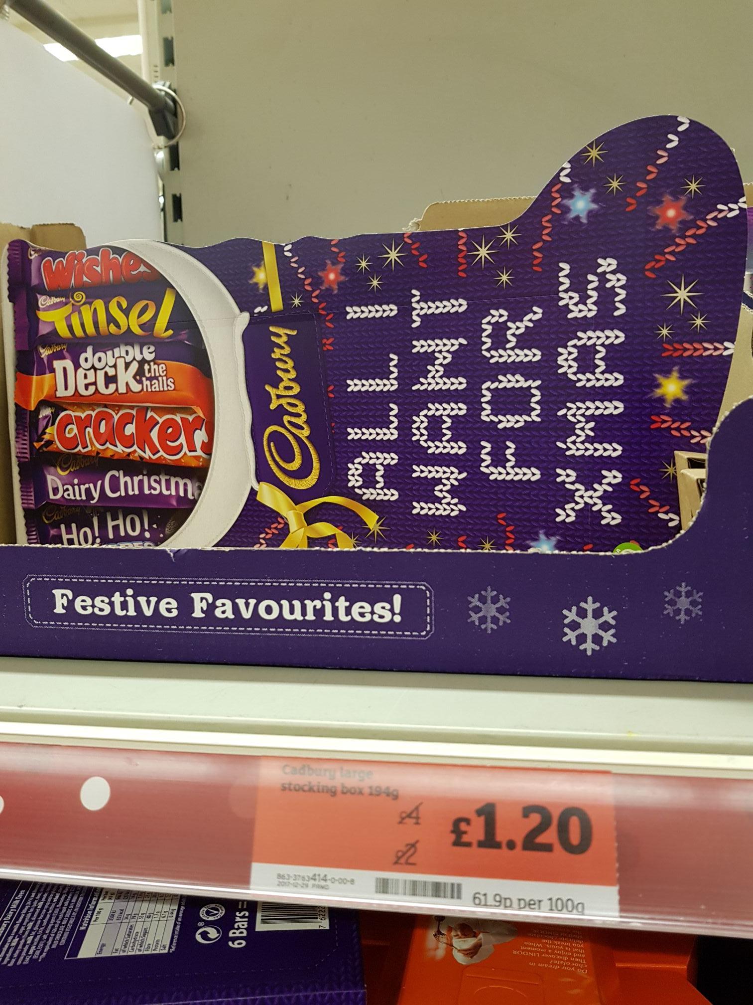 Cadbury Stocking box 194g @ Sainsbury's in-store