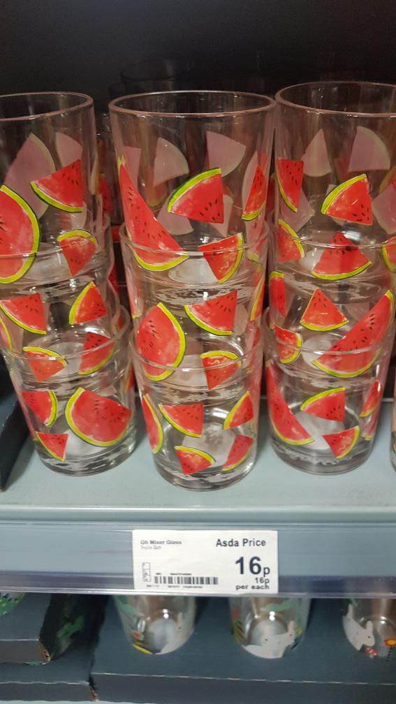 mixer glasses 16p @ Asda