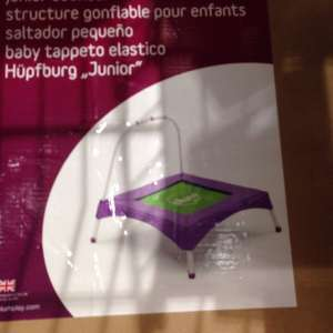 Plum junior bouncer first trampoline  £10 at Aldi