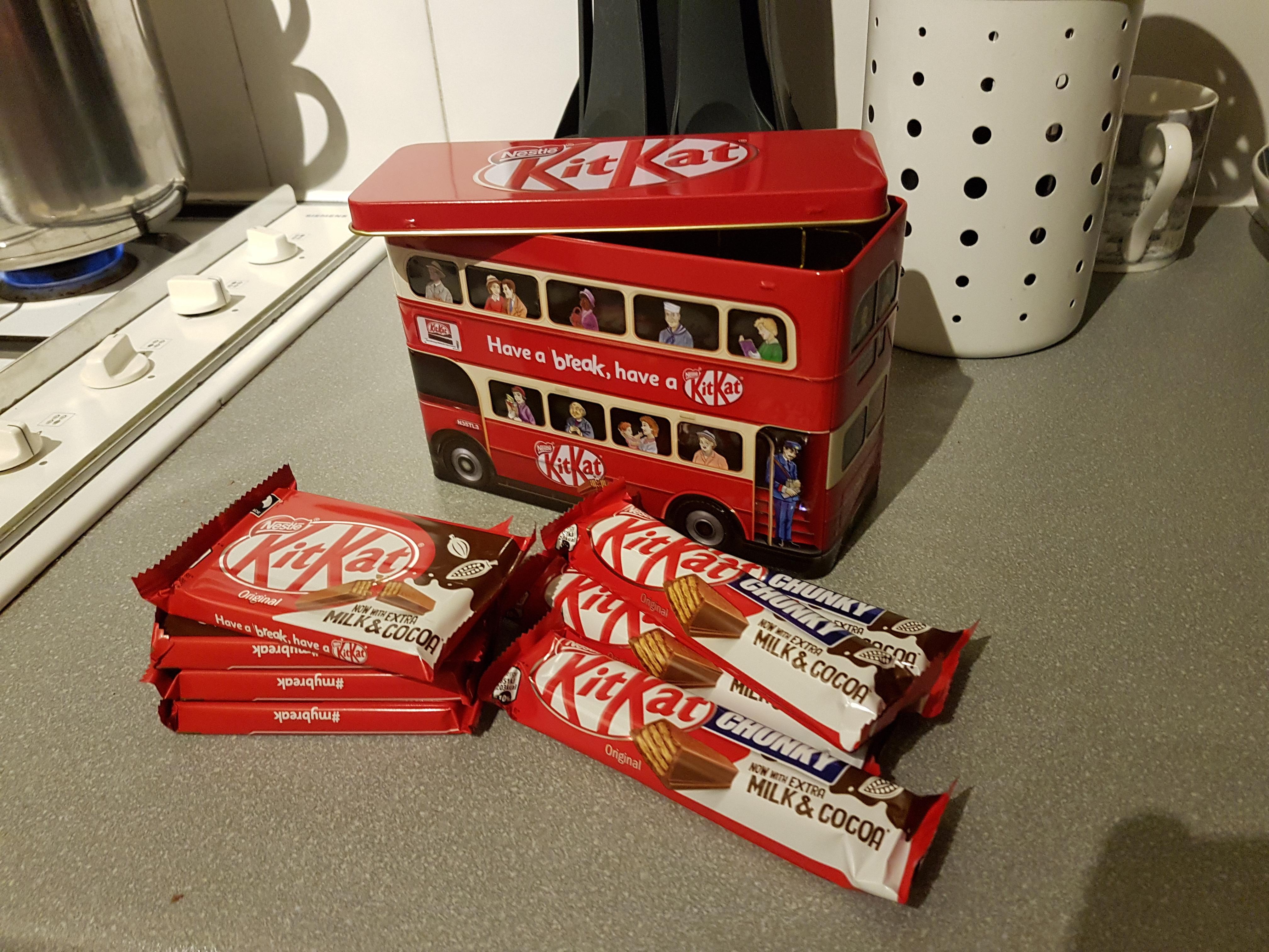 Kitkat tin plus 8 kitkats Tesco Formby £2