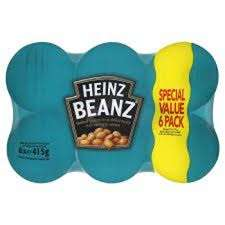 Heinz Baked Beans pack of six £2.75 at Asda
