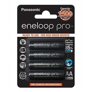 Panasonic Eneloop Pro AA 2500mAh Eneloop NiMH Ready to Use Rechargeable, £11. 63 Prime/amazon(£14.62 non prime)