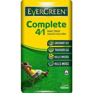 EverGreen Complete 4-in-1 lawn food, weed and moss killer £5.95 at Homebase