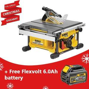 DEWALT DCS7485N-XJ 54V XR FLEXVOLT TABLE SAW + Flexvolt 6.0A battery £360.96 @ ATC