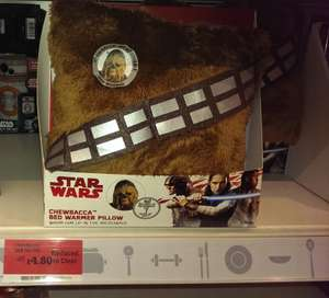 Chewbacca Bed Warmer Pillow £4.80 @ Sainsbury's instore