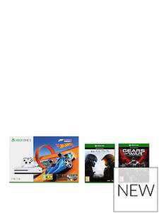 Xbox One S Xbox One S 1TB Console and Forza Horizon 3 Hot Wheels plus Halo 5 Guardians, GOW Ultimate