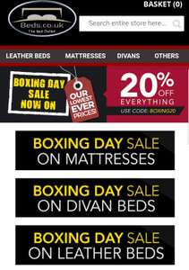 big sale on beds 20% discount code @ Beds.co.uk