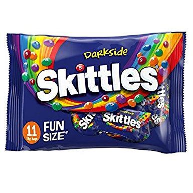 Skittles Darkside Funsize bag of 11, 198G (Pack of 12, total 2.37 kg) £8.94 (Prime) / £11.93 (Non Prime) @ Amazon