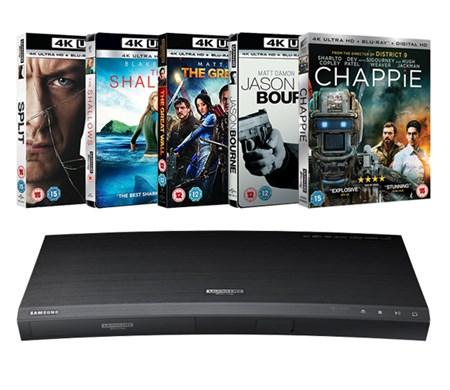 Samsung UBD-K8500 4K Player + 5 UHDs Blu-rays £166.49 @ Zoom.co.uk