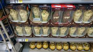 Thorntons chocolate snowman and reindeer - £2 instore @ tesco