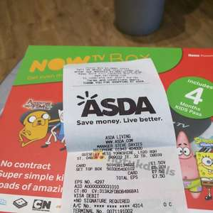 Now TV with 4 months kids pass - £6 instore @ Asda