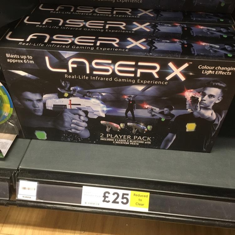 Laser tag - £25 instore @ Tesco