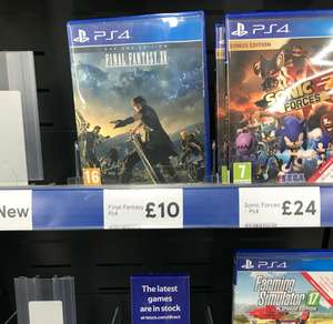PS4 Final fantasy Xv day one edition £10 instore @ Tesco