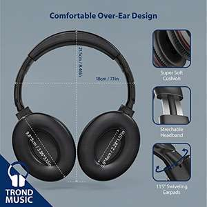 TROND Wireless Bluetooth V4.2 Over-Ear Headphones lightening deal £39.99 @ Amazon