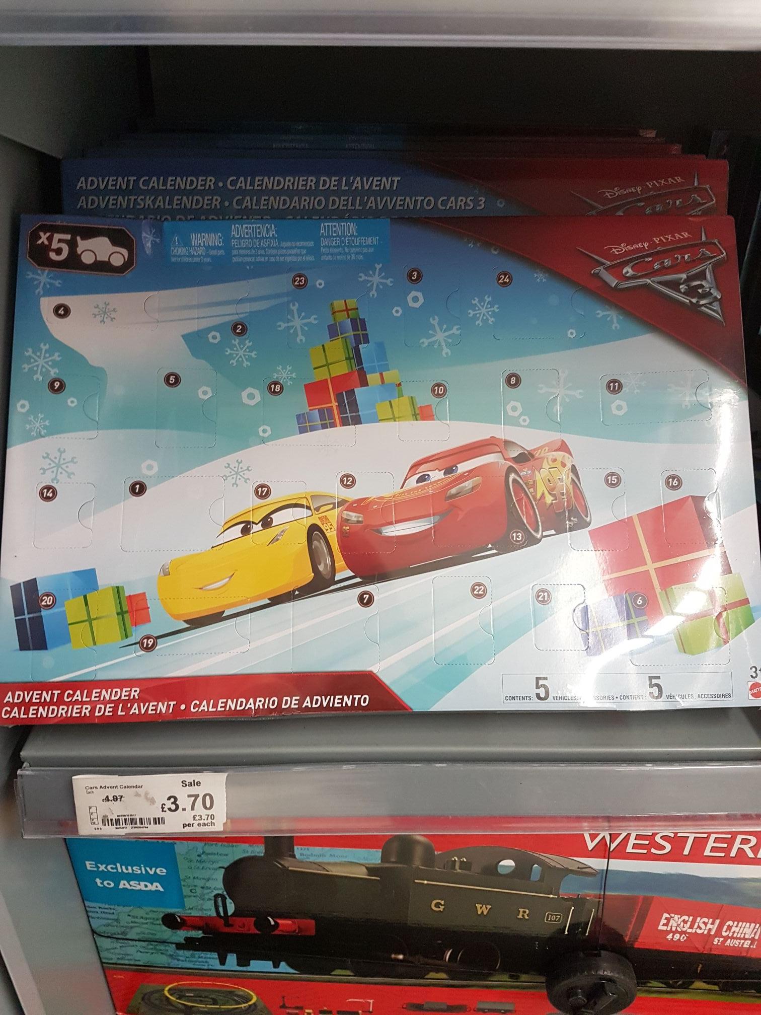 disney cars advent calendar now £3.70 asda instore