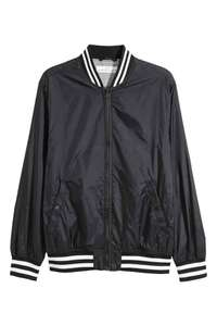 Black Baseball Jacket £5.99 delivered with H&M Club signup (otherwise £7.99 plus £3.99 delivery) @ H&M