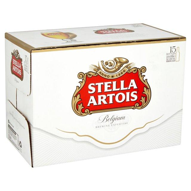 15 x 284 ml bottles of Stella - £6.75 @ Aldi.